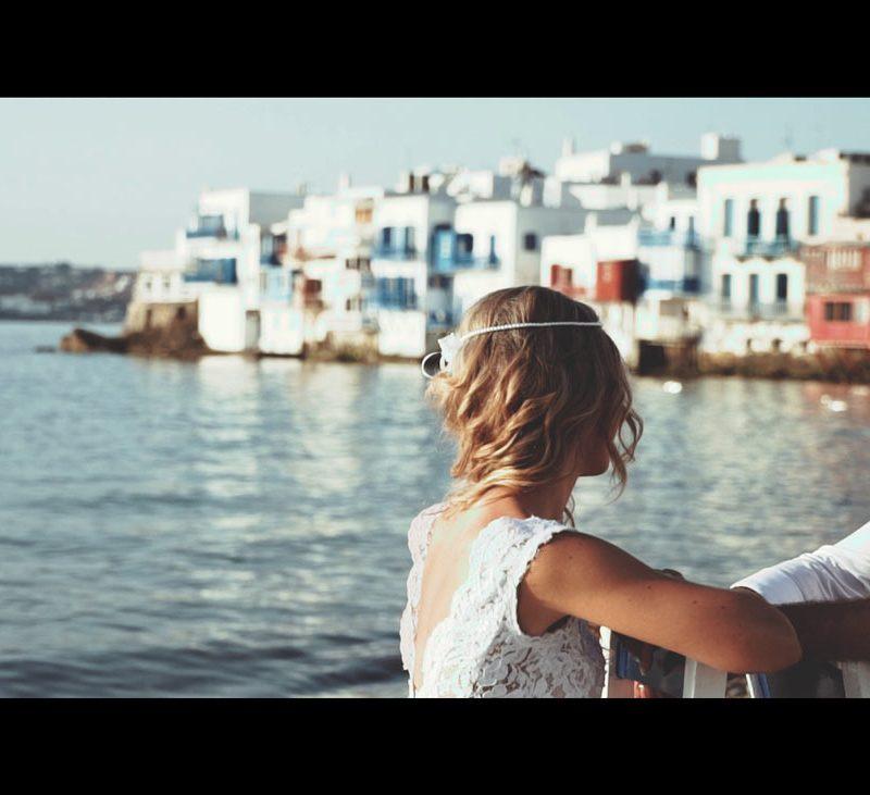 Zoe & Babis wedding clip in Mykonos